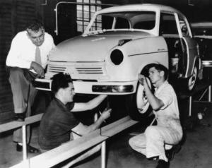 LloydHartnett assembly line Kangaroo Point Brisbane 1957