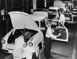 Production of the 1958 LloydHartnett car Kangaroo Point